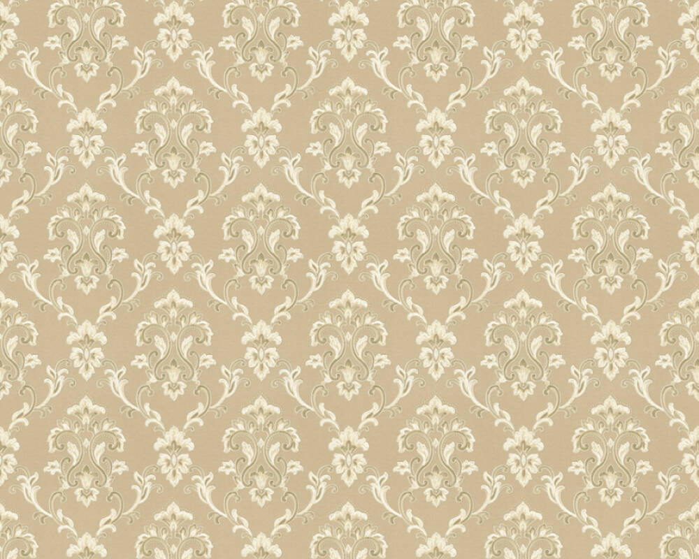 A.S. Création papier peint Uni, beige, crème, métallique 363215
