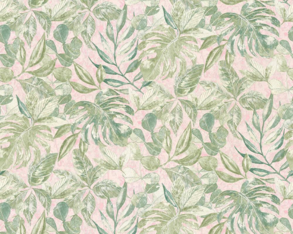 A.S. Création Tapete Dschungel, Grün, Metallics, Rosa 363241