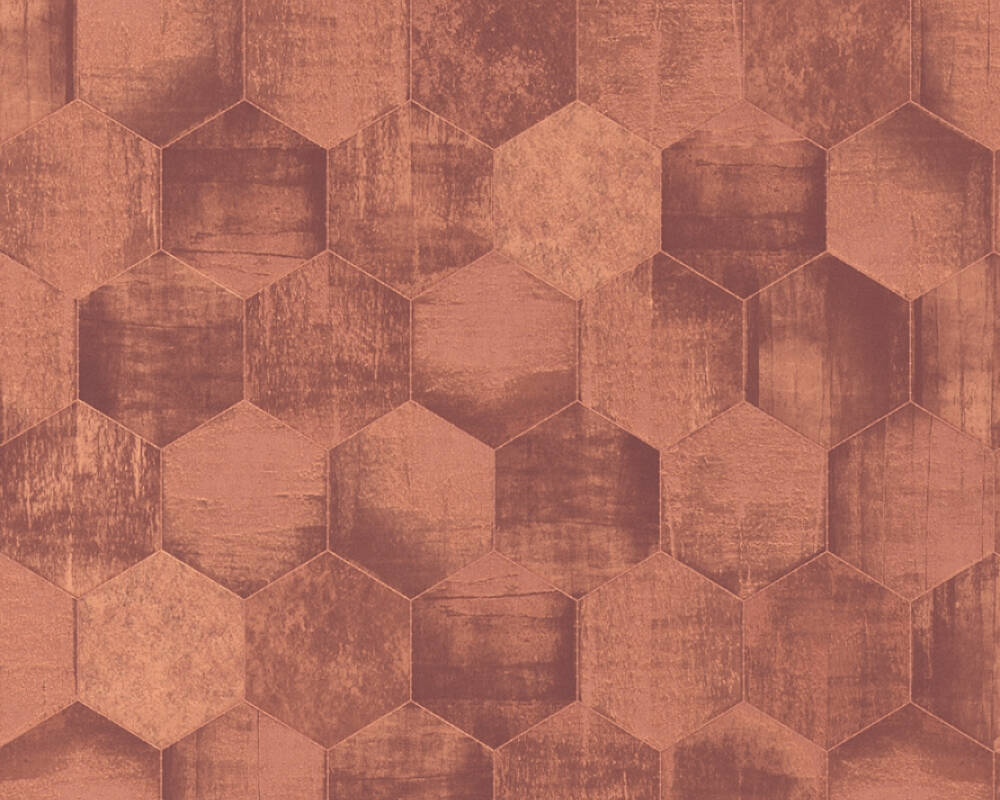 A.S. Création Wallpaper Graphics, Brown, Copper, Metallic 363305