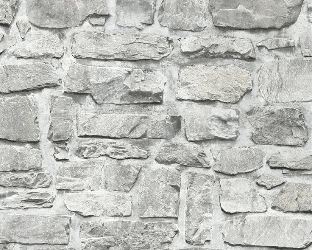 A.S. Création Wallpaper Stone, Beige, Grey, Taupe 363701