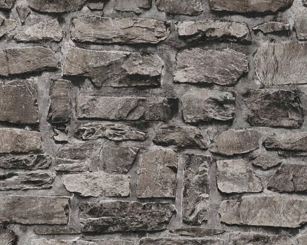 A.S. Création Wallpaper Stone, Black 363704