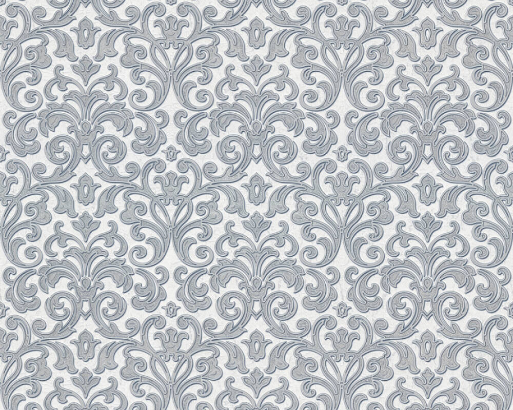 A.S. Création Tapete Barock, Grau, Metallics, Silber, Weiß 363881