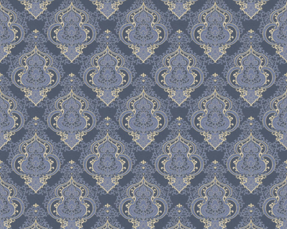 A.S. Création Tapete Barock, Blau, Gold, Metallics 364532