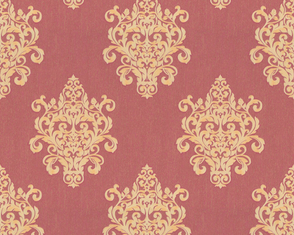 A.S. Création Tapete Barock, Gold, Metallics, Rot 364544