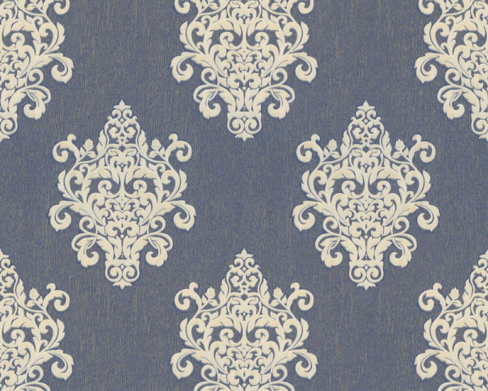 A.S. Création Tapete Barock, Blau, Gold, Metallics 364545