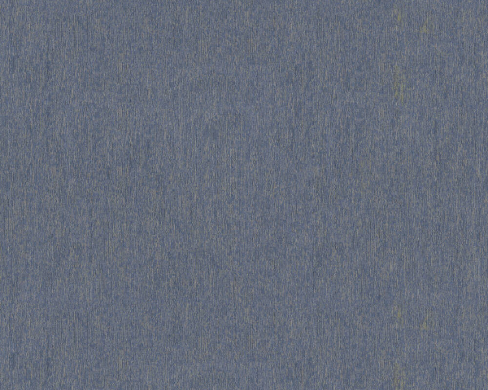 A.S. Création Tapete Uni, Blau, Gold, Metallics 364555