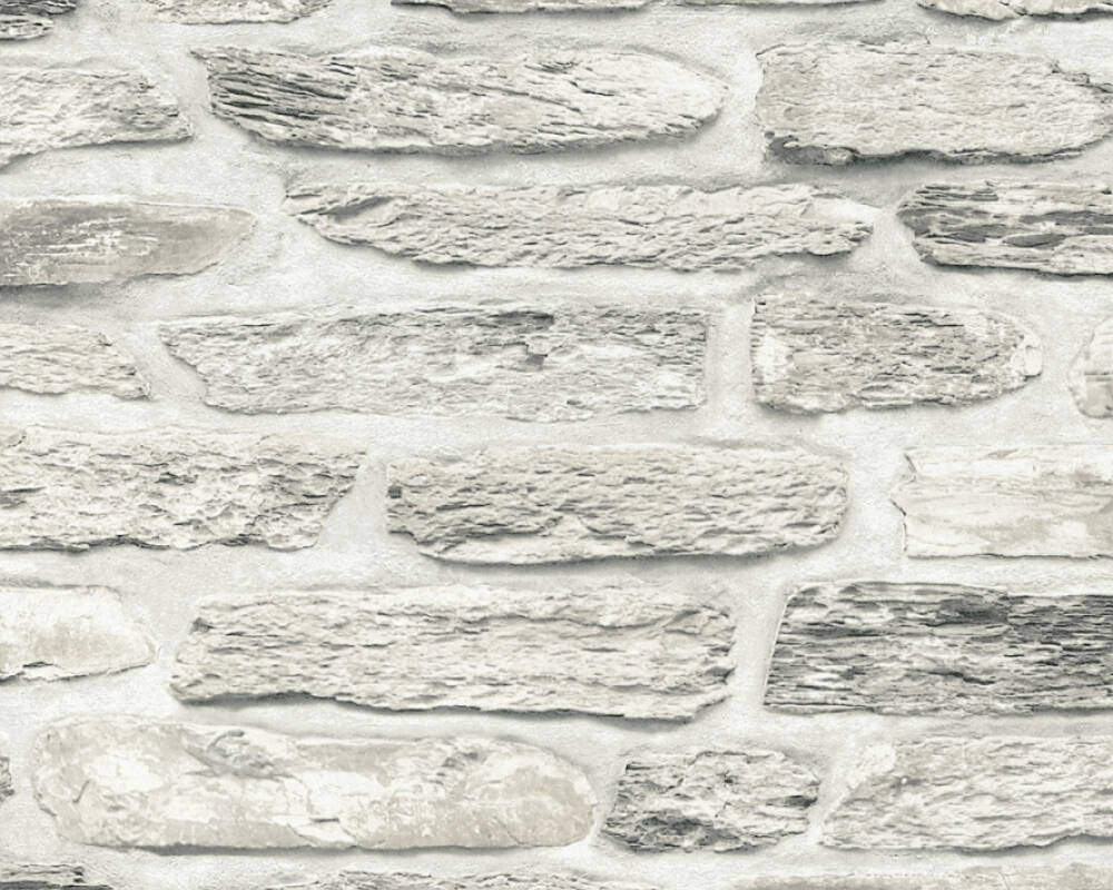A.S. Création Wallpaper Stone, Beige, Cream, Grey 364783