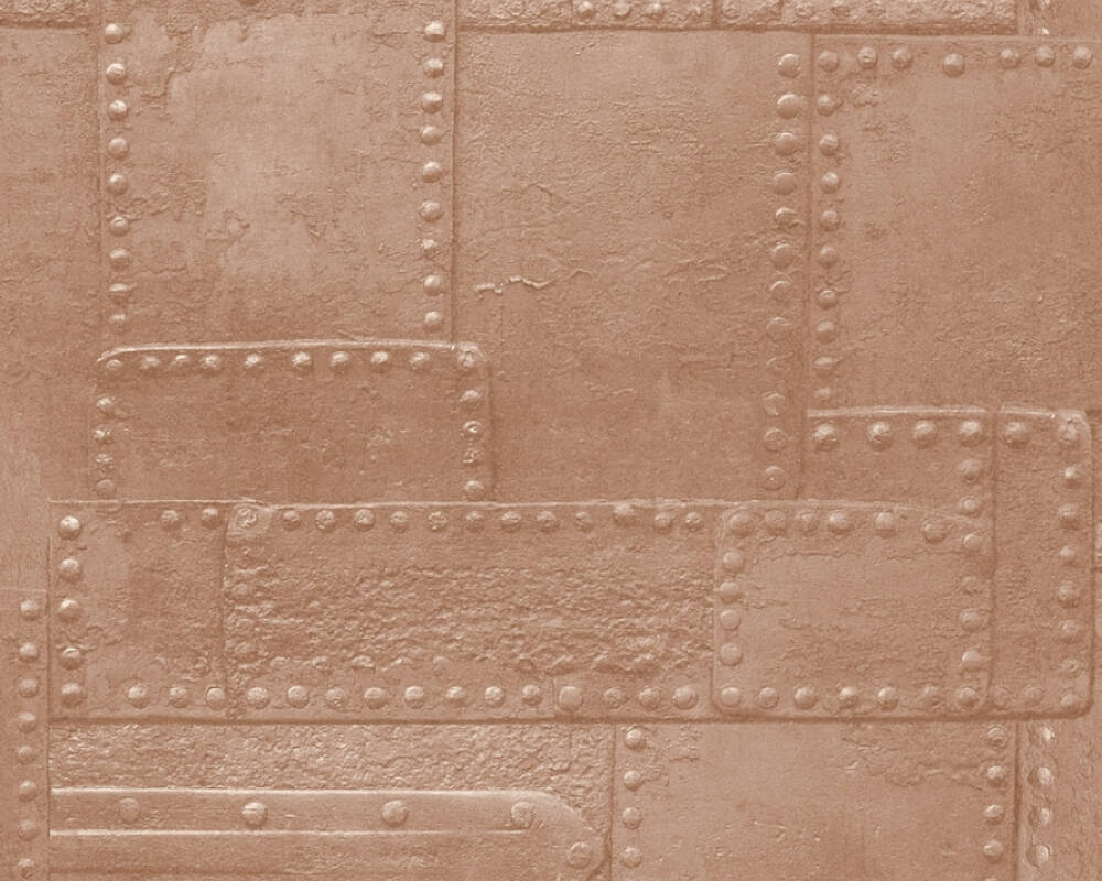 A.S. Création Wallpaper Graphics, 3D, Bronze, Brown, Copper, Gold 364942