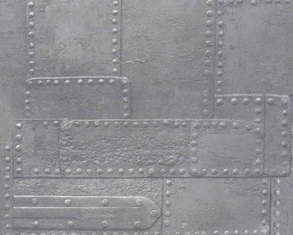 A.S. Création papier peint Graphique, 3D, argent, gris, métallique 364943