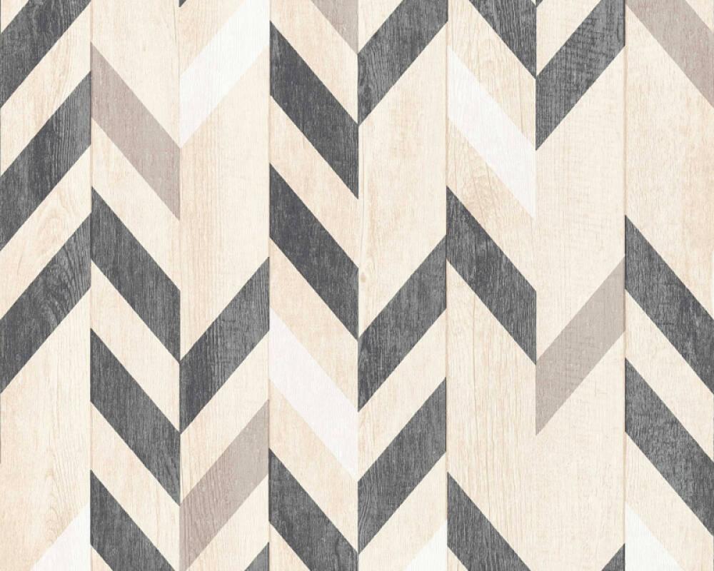 Lutèce Tapete Holz, Beige, Braun, Schwarz 364962