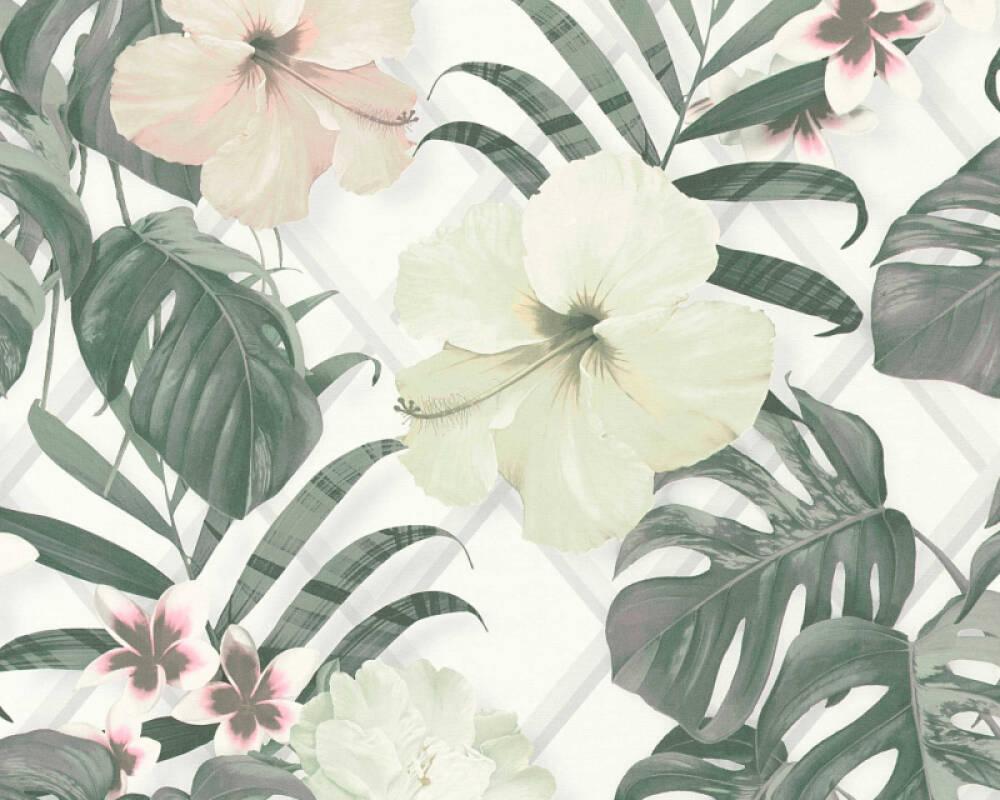MICHALSKY LIVING Обои Джунгли, Белые, Желтыe, Зеленые, Кремовые 365182