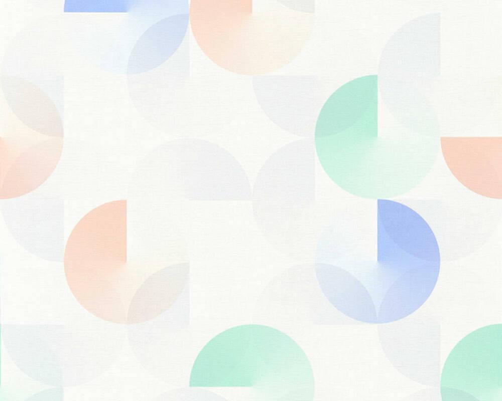 Esprit Home papier peint Graphique, 3D, blanc, bleu, gris, rose 365241
