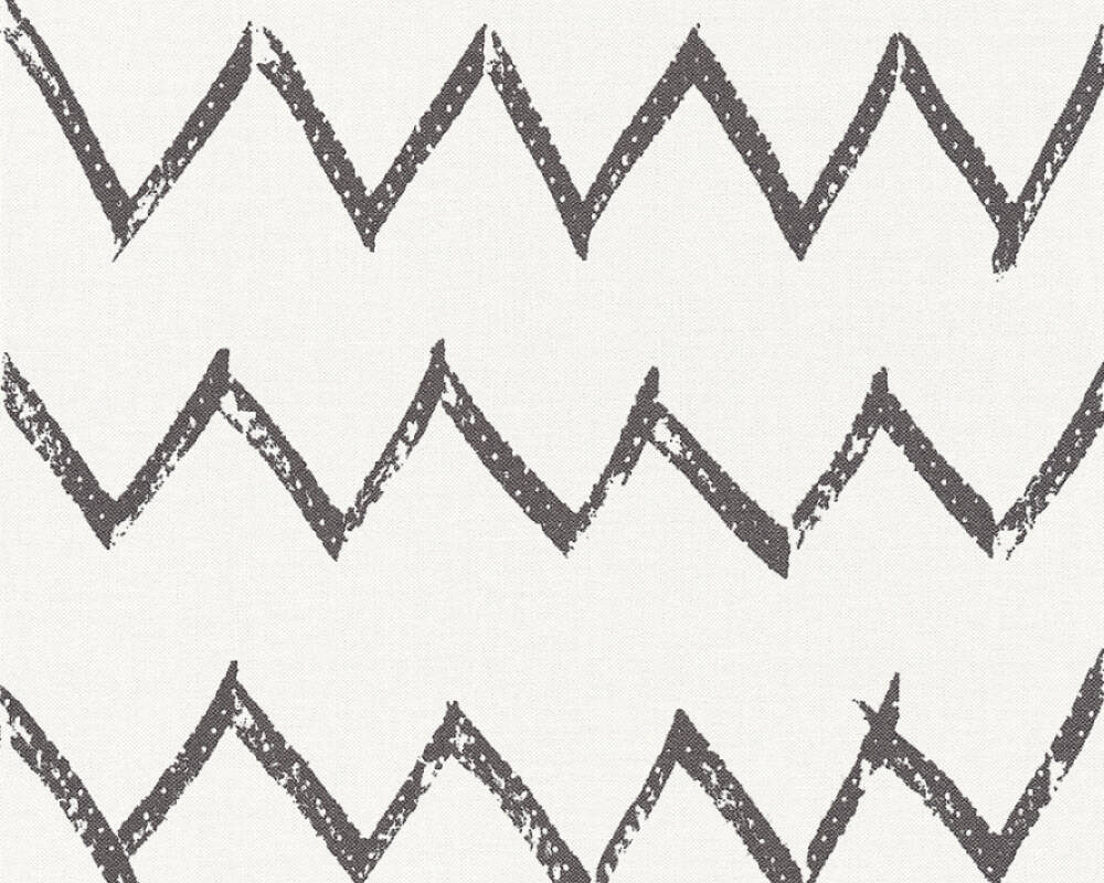 A.S. Création Wallpaper Graphics, Black, White 365742