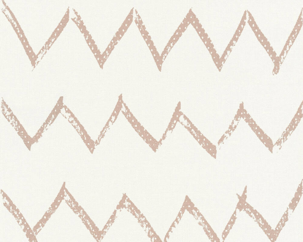 A.S. Création Wallpaper Graphics, Copper, Metallic, White 365743