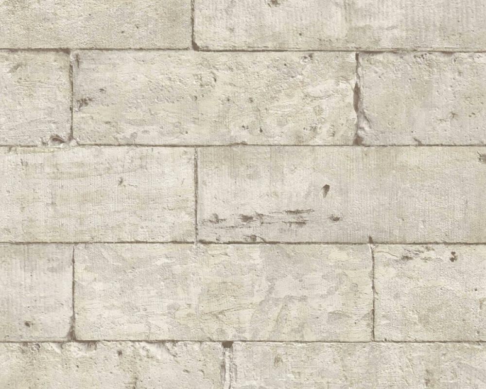 Lutèce Tapete Stein, Beige, Grau, Schwarz 366201