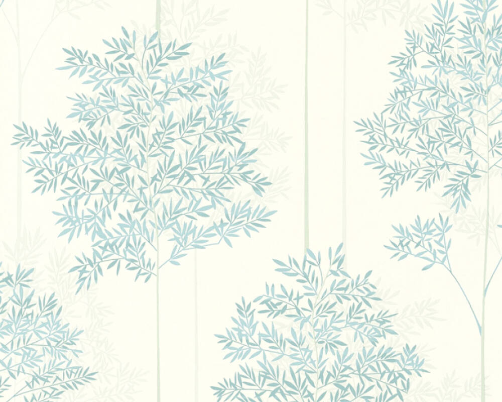 Livingwalls Wallpaper Floral Blue Green Grey Turquoise 366261