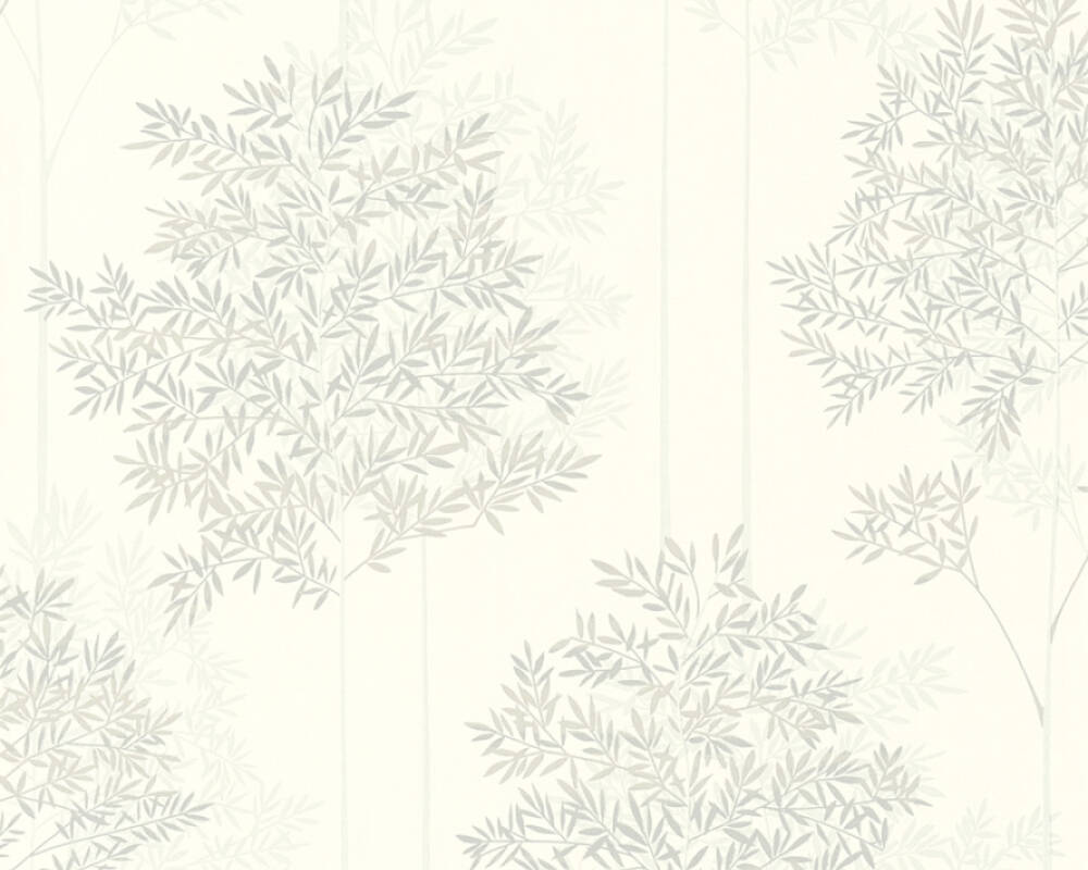 Livingwalls Wallpaper Floral, Beige, Grey, Taupe, White 366262