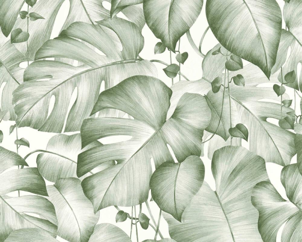 Livingwalls papier peint Jungle, blanc, vert 366272