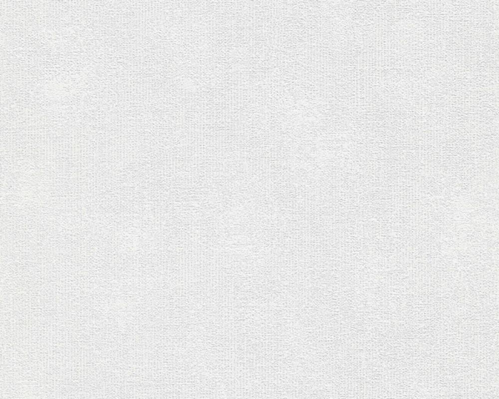A.S. Création Wallpaper Uni, Grey, White 366724