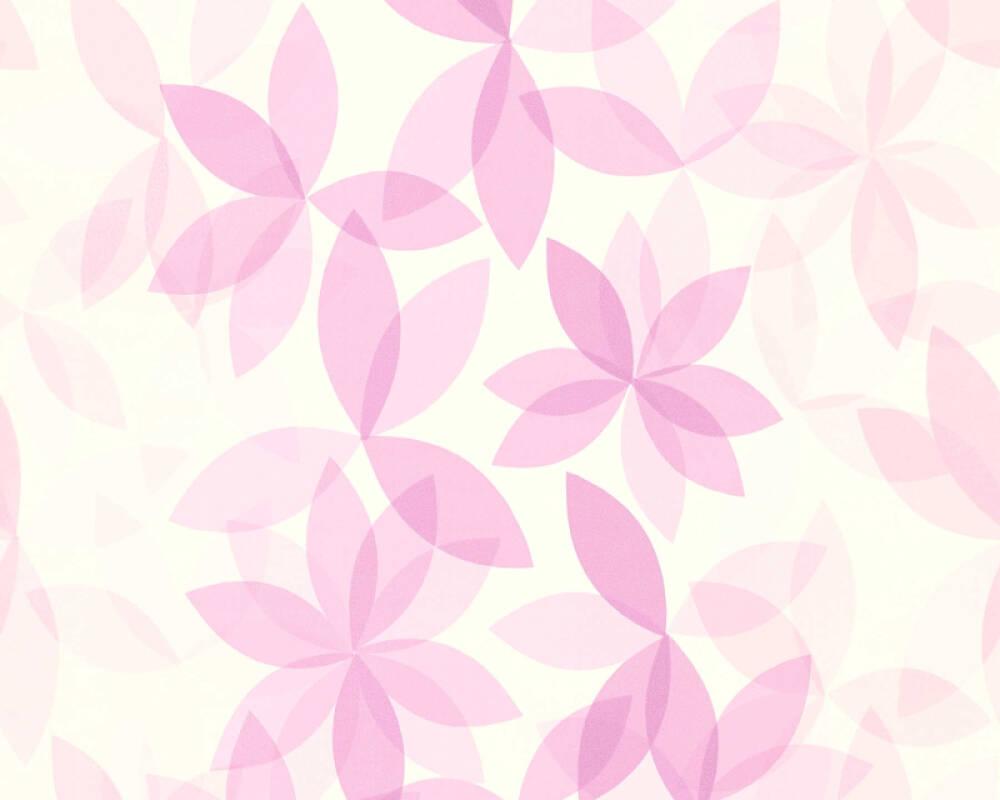 Esprit Home Обои Цветы, Белые, Фиолетовые 366742
