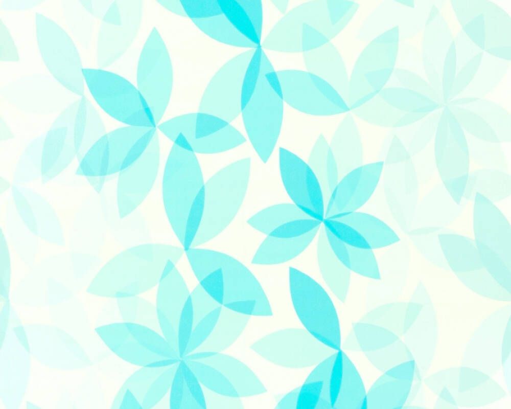 Esprit Home Wallpaper Flowers, Blue, Green, Turquoise 366743