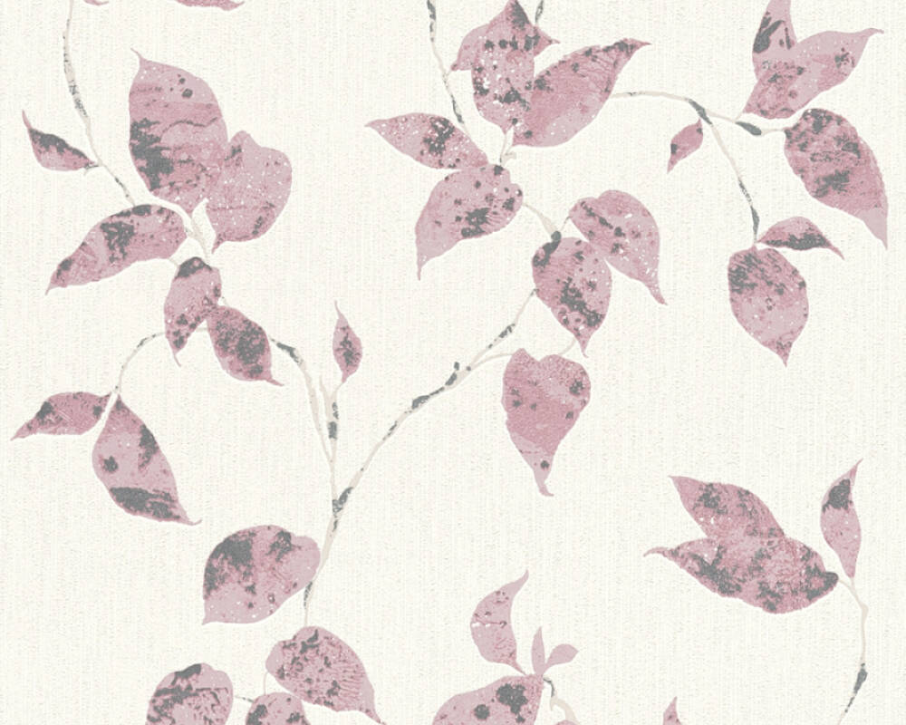 A.S. Création Wallpaper Cottage, Floral, Grey, Pink, White 366875