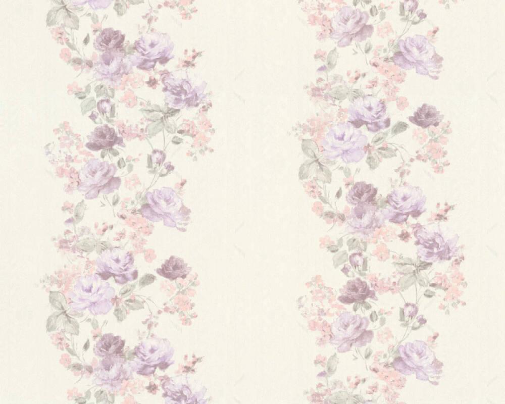 A.S. Création Tapete Grafik, Floral, Creme, Grün, Metallics, Rosa 366904