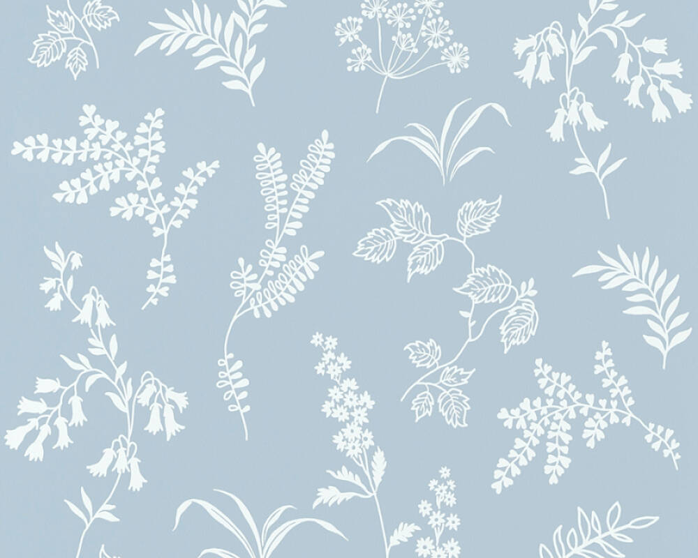 A S Creation Wallpaper Flowers Blue White 366934