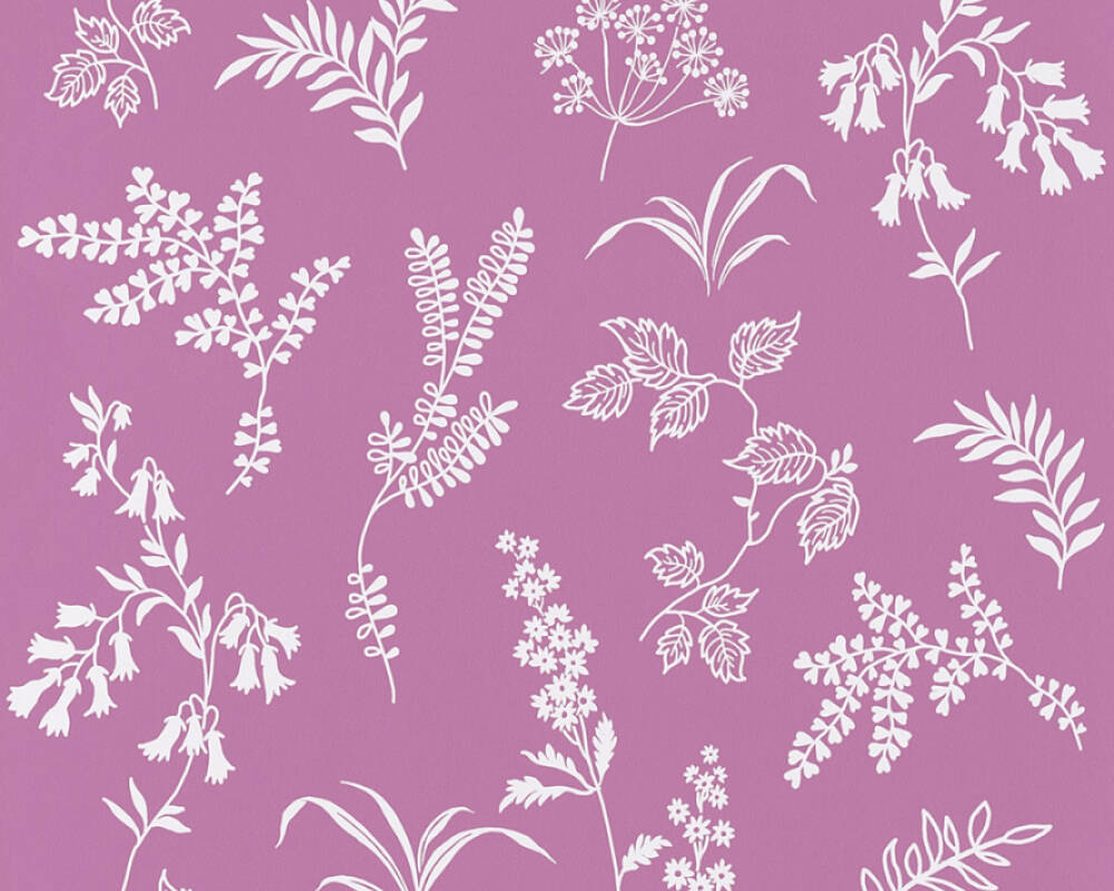 A S Creation Wallpaper Flowers Purple White 366936