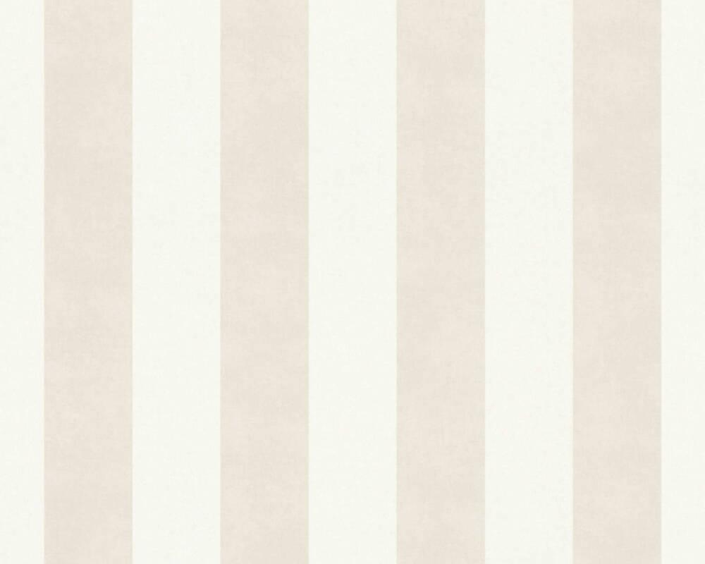 A.S. Création Tapete Streifen, Gold, Metallics, Weiß 366982