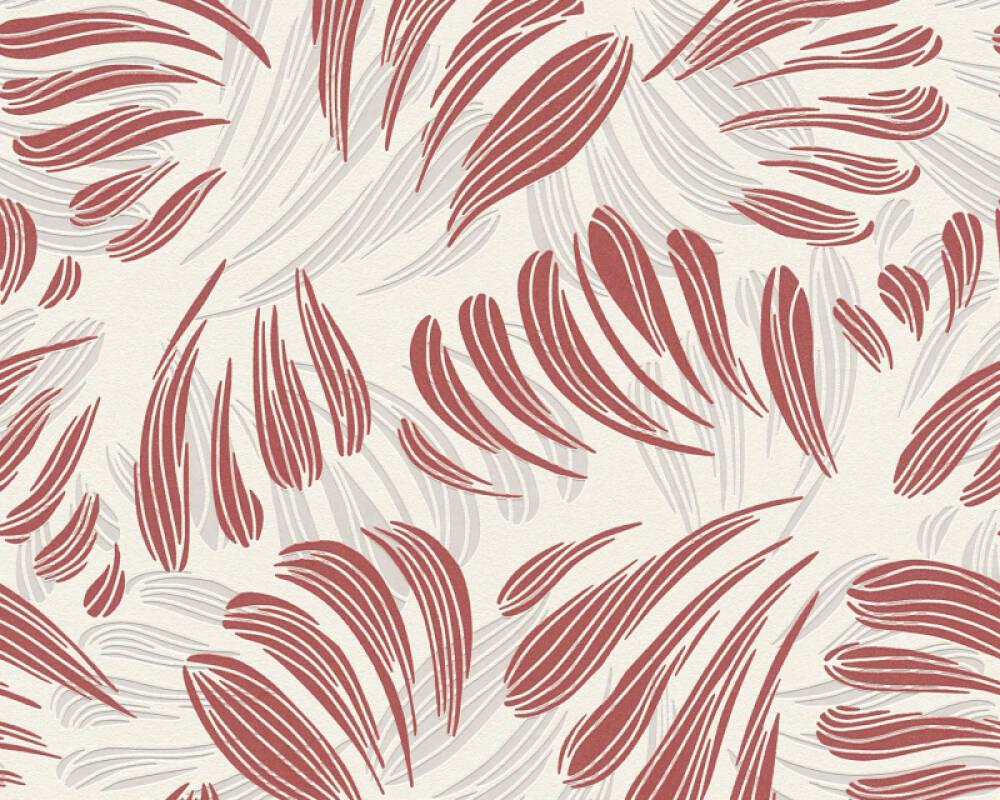 A.S. Création Tapete Grafik, Floral, Metallics, Rot, Weiß 367034