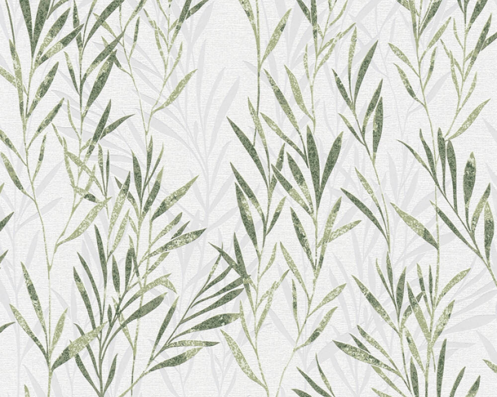 A.S. Création Wallpaper Floral, Green, White 367123