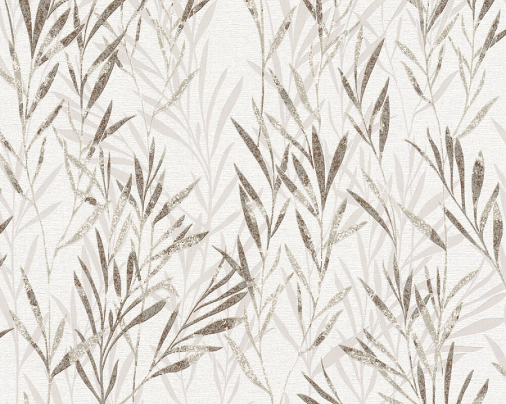 A.S. Création Wallpaper Floral, Beige, Brown, Cream 367124