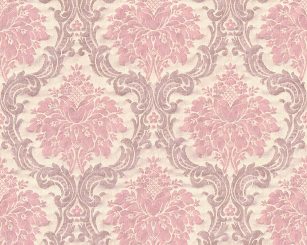 Livingwalls Wallpaper Baroque, Beige, Pink 367162
