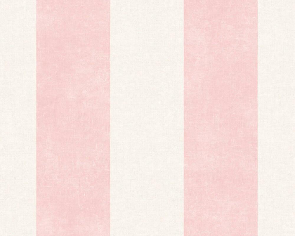 Livingwalls Wallpaper Stripes, Cream, Pink 367184