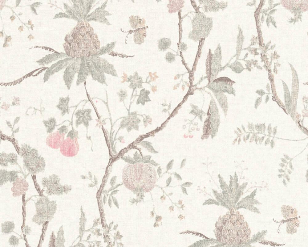 Livingwalls Wallpaper Wood, Cottage, Beige, Brown, Grey, Red 367191