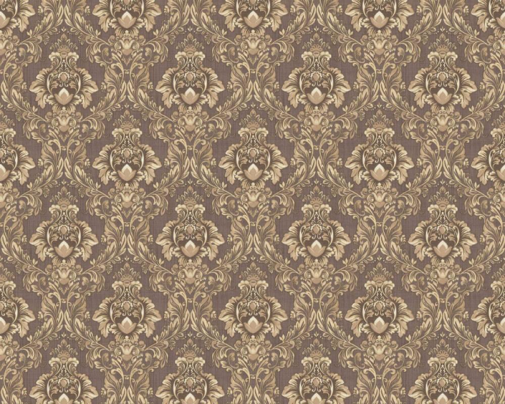 A.S. Création papier peint Textile, blanc, marron, métallique 367323