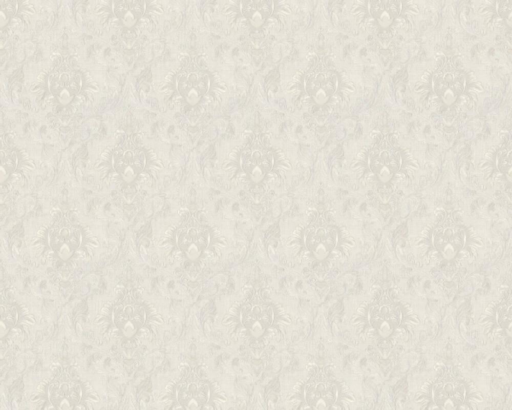 A.S. Création papier peint Textile, blanc, gris 367325