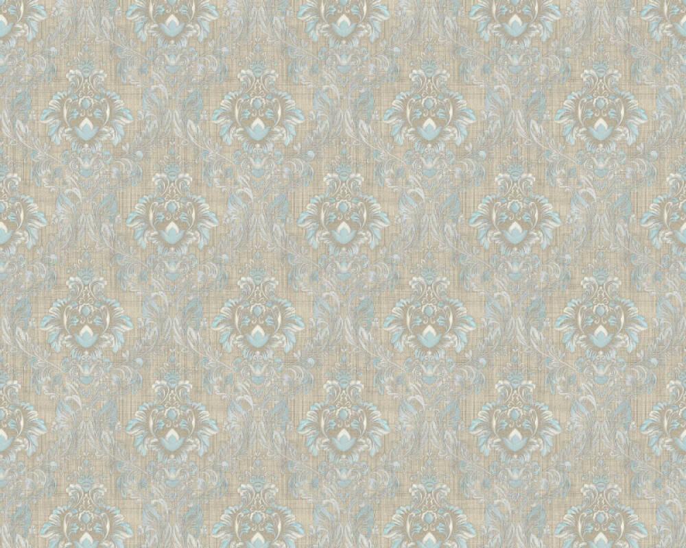 A.S. Création papier peint Textile, beige, bleu, marron 367326