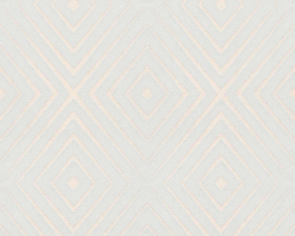 A.S. Création Wallpaper Graphics, 3D, Cream, Grey 367854
