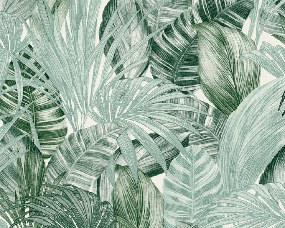 A.S. Création Wallpaper Jungle, Green, White 368201