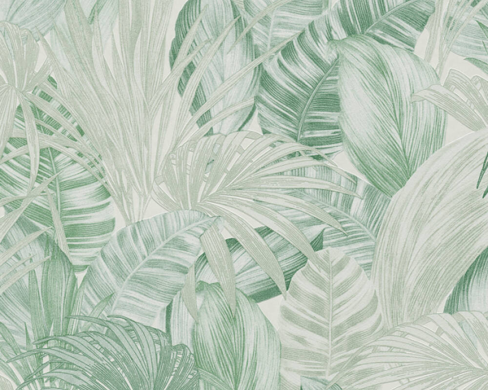 A.S. Création Wallpaper Floral, Green 368202