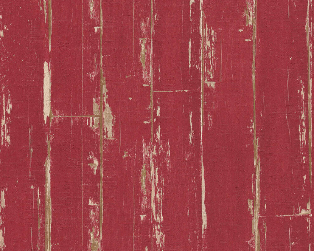 A.S. Création Wallpaper Wood, Red 368561