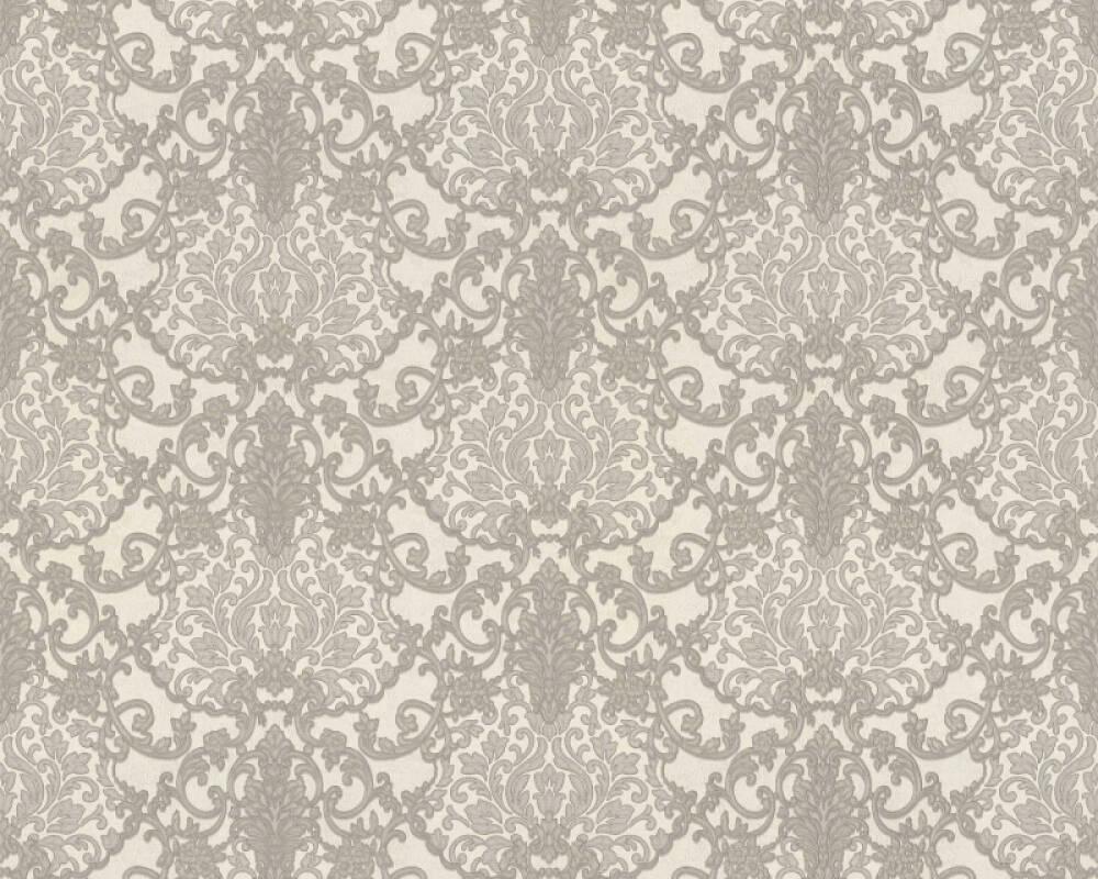 A.S. Création papier peint Baroque, argent, blanc, gris, métallique 368863
