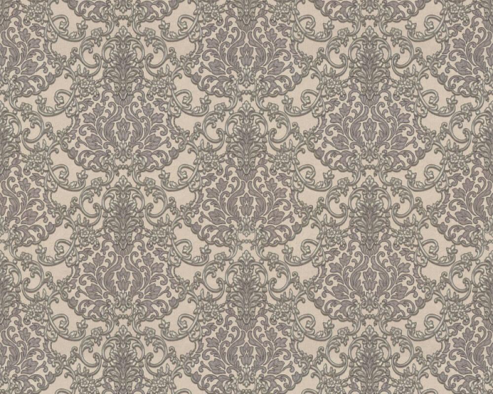 A.S. Création papier peint Baroque, argent, gris, métallique 368864