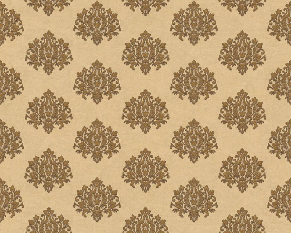 A.S. Création papier peint Baroque, crème, métallique, or 368871
