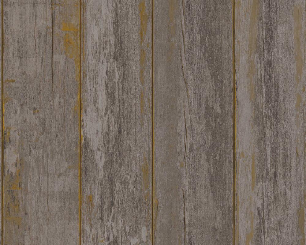 A.S. Création papier peint Bois, Maison, marron, noir 368932