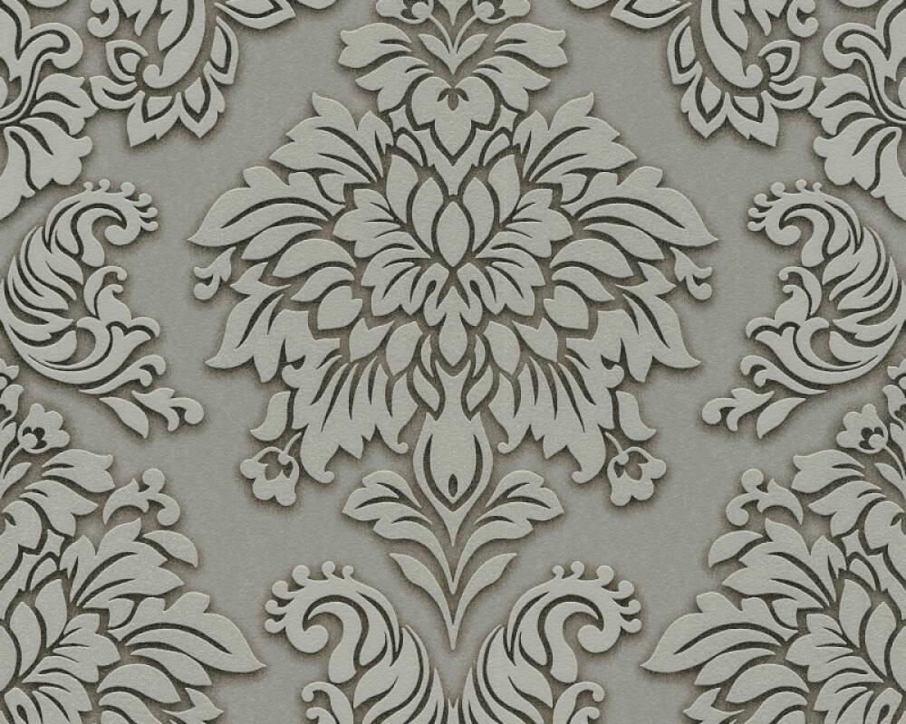 Livingwalls papier peint Baroque, 3D, argent, beige, gris, métallique 368981