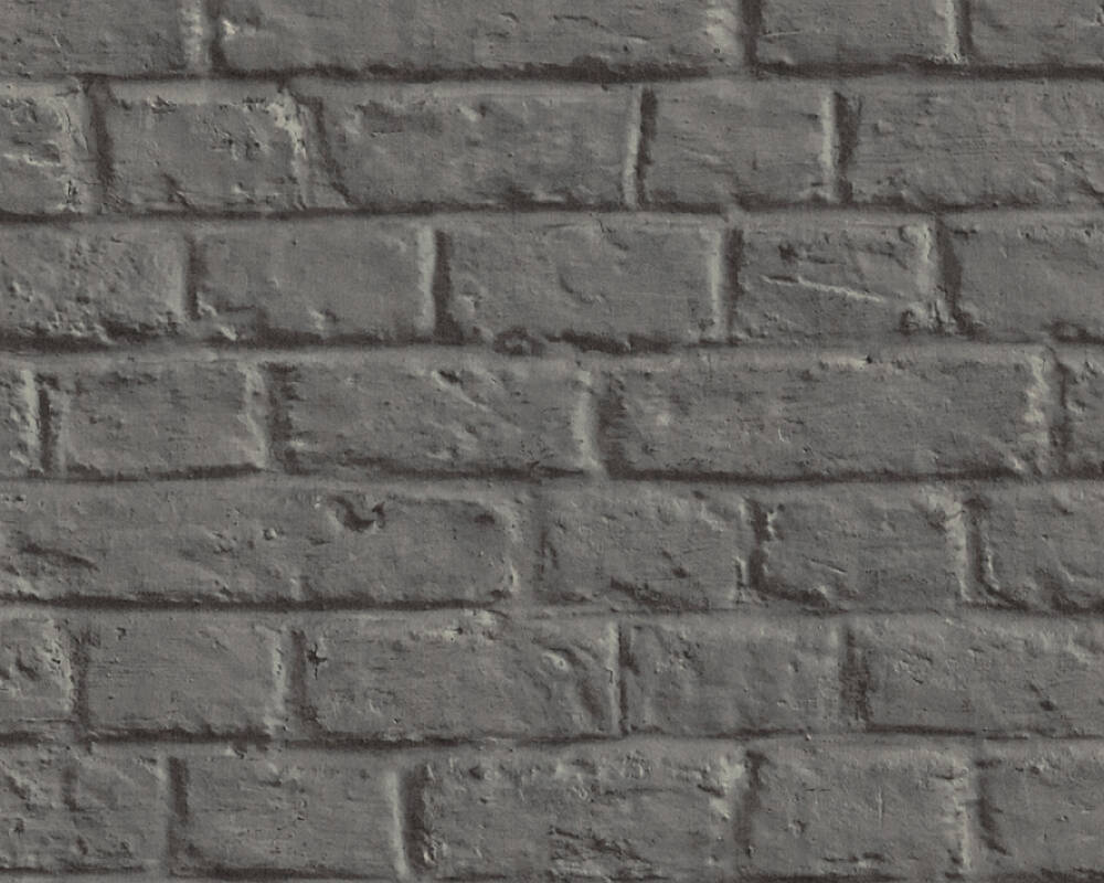 Livingwalls Wallpaper Stone, Cottage, 3D, Black, Grey 369121
