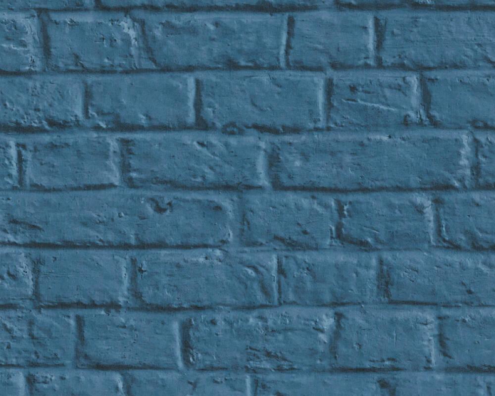 Livingwalls Обои Под камень, Деревенский стиль, 3D, Синие 369123